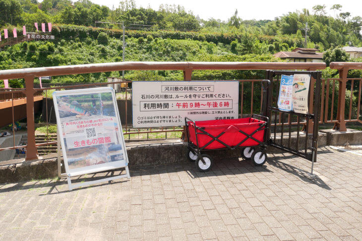 石川の河川敷 利用ルール看板画像