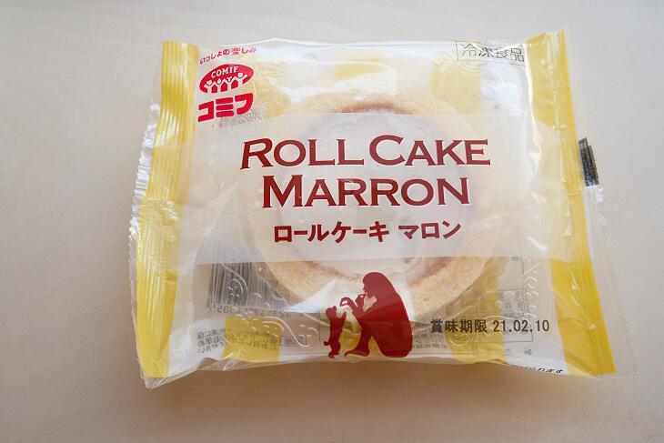 コミフのロールケーキマロンパッケージ画像